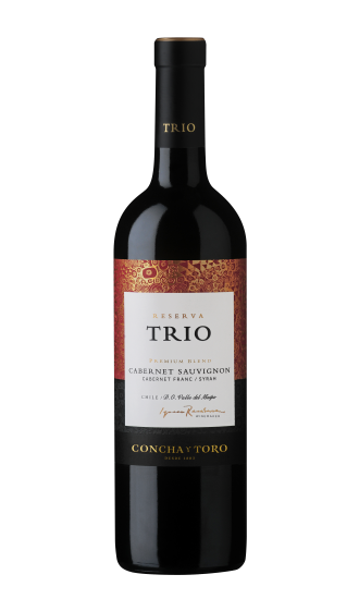 Trio - Reserva, (Premium Blend) Cabernet Sauvignon / Shiraz / Cabernet Franc, Maipo Valley